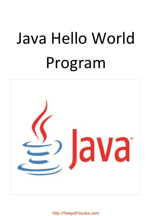 Java Hello World Program, Java Programming Book
