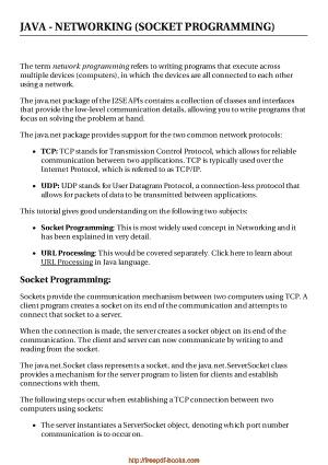 Free Download PDF Books, Java Networking