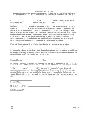 Free Download PDF Books, North Carolina Minor Child Power Of Attorney Form Template