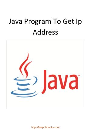 Java Program To Get Ip Address