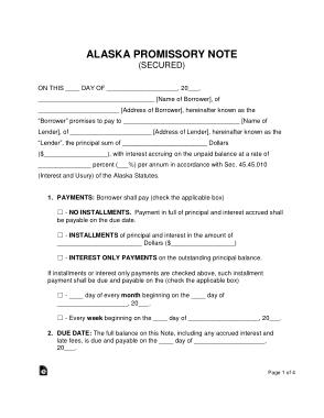Free Download PDF Books, Alaska Secured Promissory Note Form Template