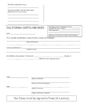 Free Download PDF Books, California Quitclaim Deed Form Template