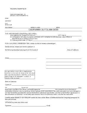 Free Download PDF Books, California Quitclaim Deed Form