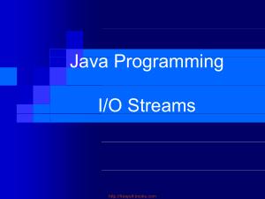 Java Programming Io Streams – Java Lecture 25, Java Programming Tutorial Book