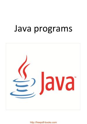 Java Programs, java Tutorial