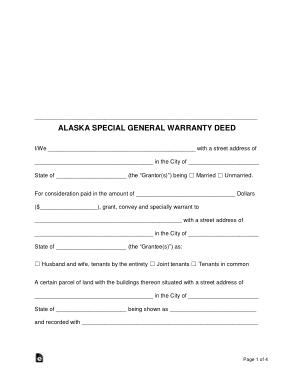 Free Download PDF Books, Alaska Special Warranty Deed Form Template