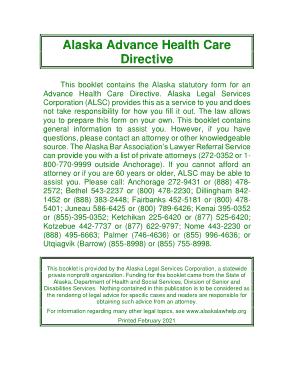 Free Download PDF Books, Alaska Advance Health Care Directive Form Template