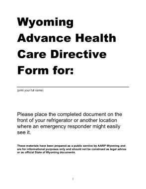 Free Download PDF Books, Cheyenne Regional Health Wyoming Advance Directive Form Template