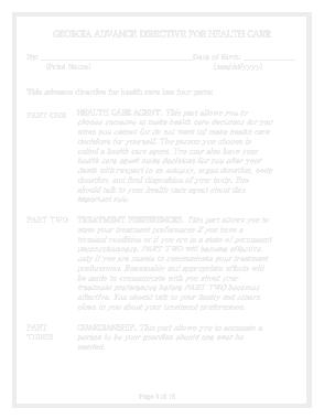 Free Download PDF Books, Ga Advance Directive For Health Care Form Template