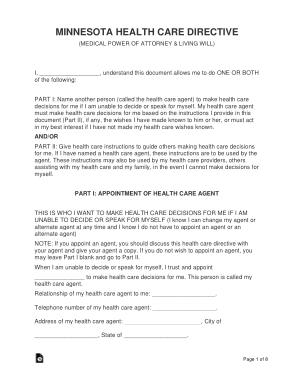 Free Download PDF Books, Minnesota Advance Health Care Directive Form Template