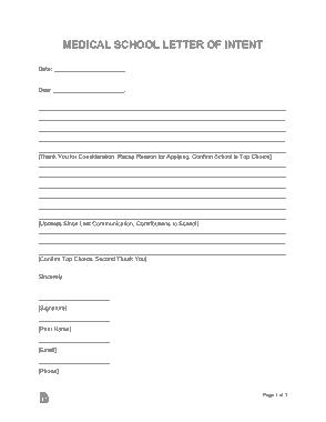 Free Download PDF Books, Medical School Letter of Intent Sample Letter Template