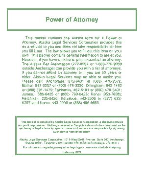 Alaska General Financial Power Of Attorney Form Template