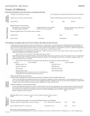Free Download PDF Books, Minnesota Tax Power Of Attorney Form Rev184 Form Template