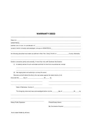 Free Download PDF Books, Nebraska General Warranty Deed Form Template