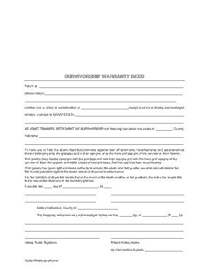 Free Download PDF Books, Nebraska Survivorship Warranty Deed Form Template