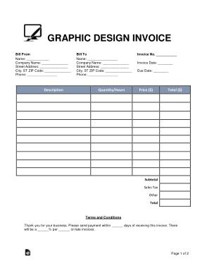 Free Download PDF Books, Graphic Design Invoice Form Template