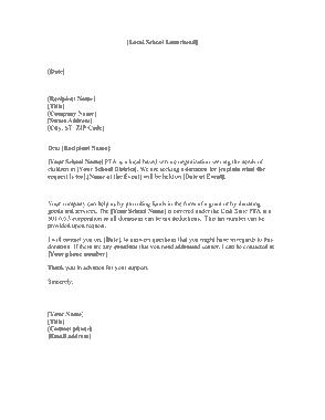 Free Download PDF Books, Local School Donation Request Letter Template