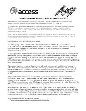 Free Download PDF Books, National Delegation Request Letter Template