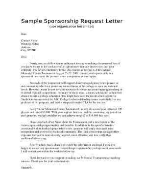 Sponsorship Request Letter Template