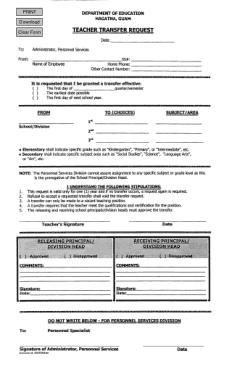 Free Download PDF Books, Teacher Transfer Request Letter Template