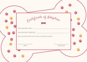 Free Download PDF Books, Amazing Adoption Certificate Template