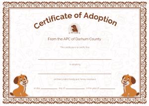 Free Download PDF Books, APC Adoption Certificate Template