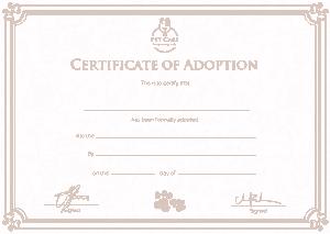Free Download PDF Books, Free Adoption Certificate Template