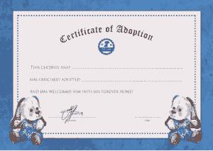 Free Download PDF Books, Pet Adoption Certificate Template