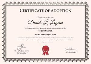 Free Download PDF Books, Sample Adoption Certificate Template