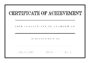 Award Certificate of Achievement Template