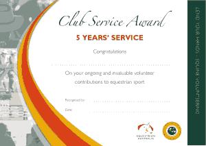 Free Download PDF Books, Club Service Award Certificate Template