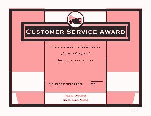 Free Download PDF Books, Customer Service Award Certificate Template