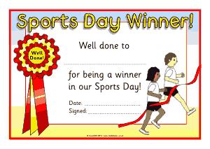 Generic Sports Award Certificate Template