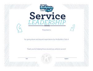 Sample Service Award Certificate Template