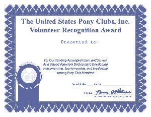 Volunteer Recongnition Award Certificate Template