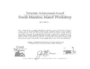 Volunteer Service Award Certificate Template