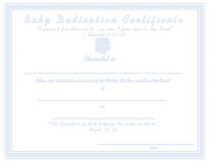 Free Download PDF Books, Printable Baby Dedication Certificate Template