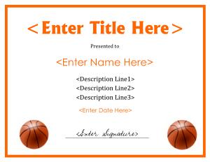 Free Download PDF Books, Sample Basketball Certificate Template