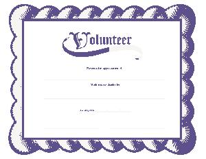Volunteer Certificate of Appreciation Template