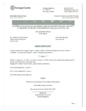 Free Download PDF Books, Birth Certificate Sample Template