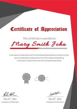 Free Download PDF Books, Appreciation Certificate Award Template