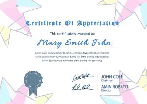 Free Download PDF Books, Appreciation Certificate Dummy Sample Template