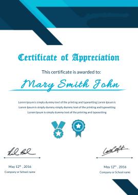 Free Download PDF Books, Appreciation Certificate Sample Template