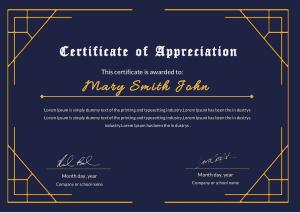 Free Download PDF Books, Best Appreciation Certificate Template