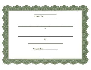 Free Download PDF Books, Blank Certificate of Appreciation Template