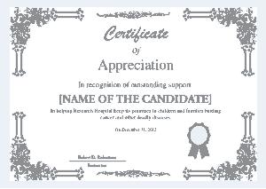 Free Download PDF Books, Candidate Appreciation Certificate Template