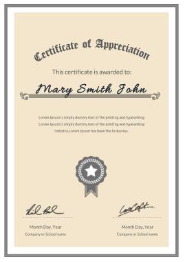 Free Download PDF Books, Company Appreciation Certificate Template