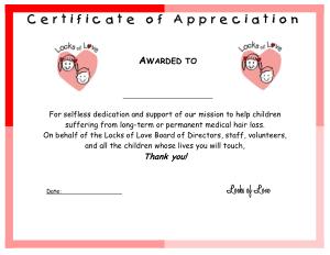 Free Download PDF Books, Dedication Appreciation Certificate Template
