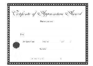 Employee Appreciation Award Sample Certificate Template