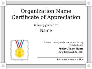 Free Download PDF Books, Organization Certificate of Appreciation Template
